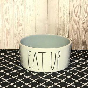 "Rae Dunn EAT UP LL Pet Bowl - Gray, 6"""